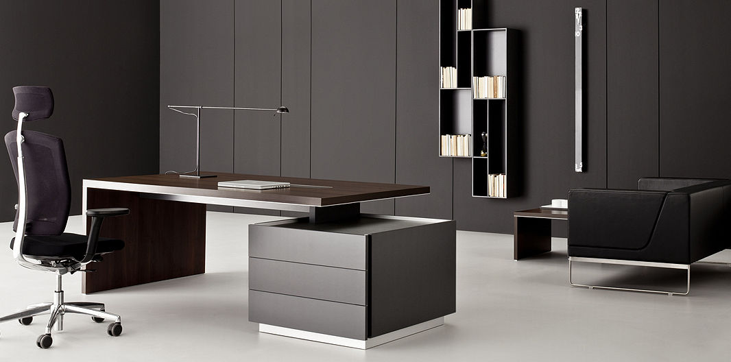 Executive Desk Leather Contemporary Commercial