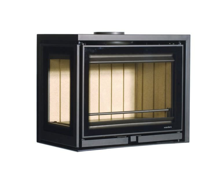 Wood-burning fireplace insert / corner - SQUARE 60 - Wanders fires ...