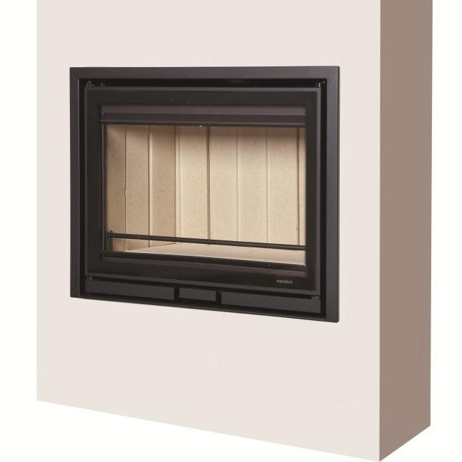 Wood-burning fireplace insert / corner / 3-sided - SQUARE 68 ...