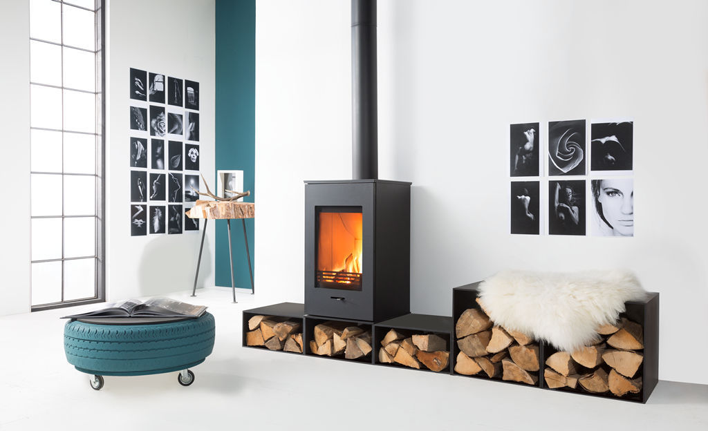 ... Wood heating stove / contemporary / metal ELM Wanders fires & stoves - Wood Heating Stove / Contemporary / Metal - ELM - Wanders Fires