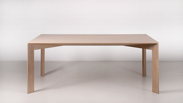 contemporary dining table oak rectangular white arch by marco sousa santos - Contemporary Oak Dining Table