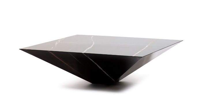 Contemporary coffee table marble square LYTHOS by Toni grilo
