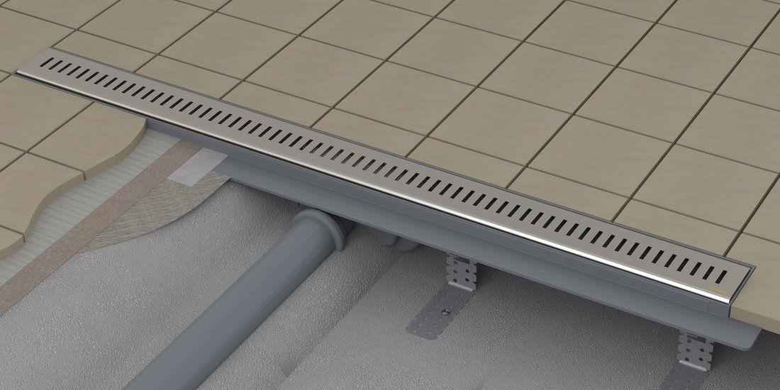 Stainless Steel Linear Shower Drain ZEBRA RAVAK ...
