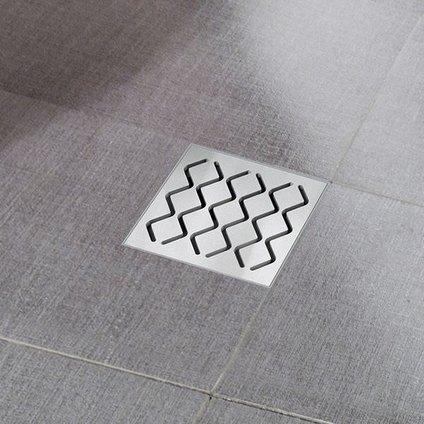 Stainless Steel Floor Drain Grated Square Sn501 Ravak