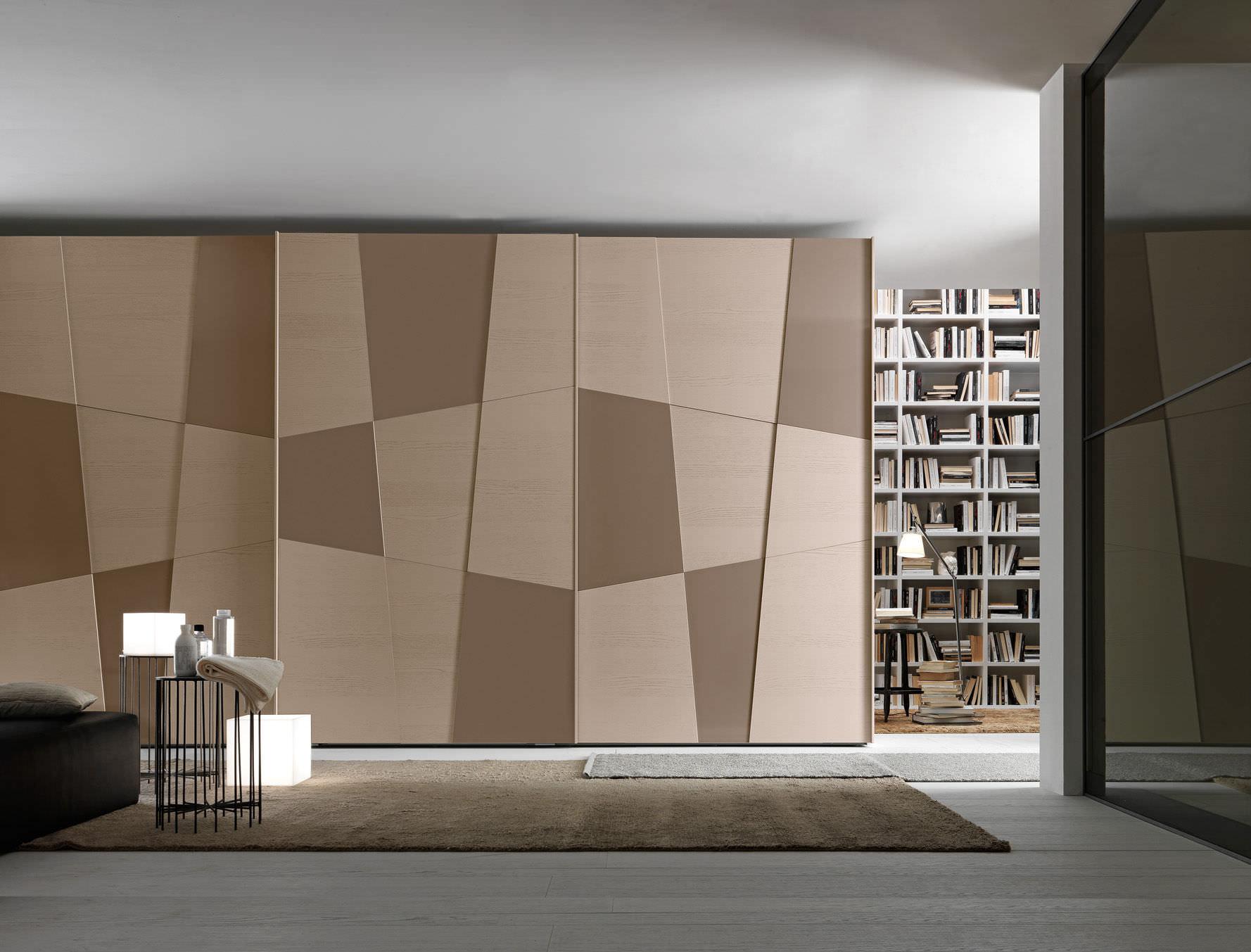 Contemporary Wardrobe  Glossy Lacquered Wood  Sliding Door - Bedroom wardrobe sliding doors