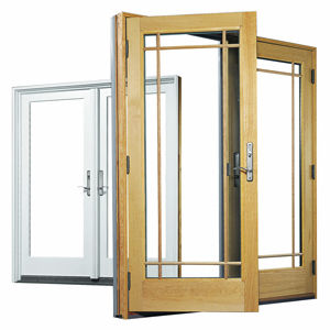 swing french door aluminum wooden a andersen