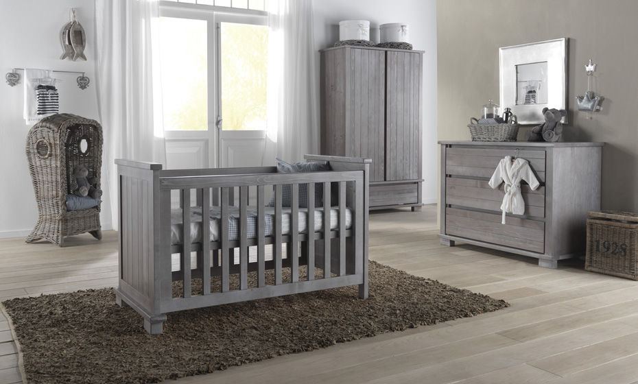 Gray Children S Bedroom Furniture Set Baby MalmÖ Smoked Grey
