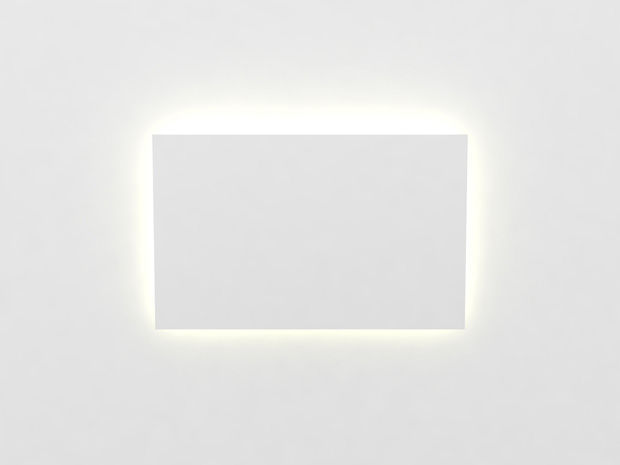 Contemporary wall light plaster led rectangular format by