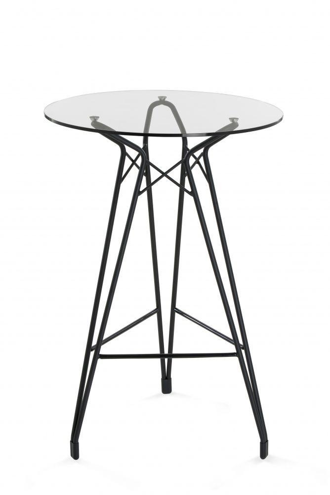 Contemporary High Bar Table Wooden Glass Metal DIAMOND By - Diamond bar table