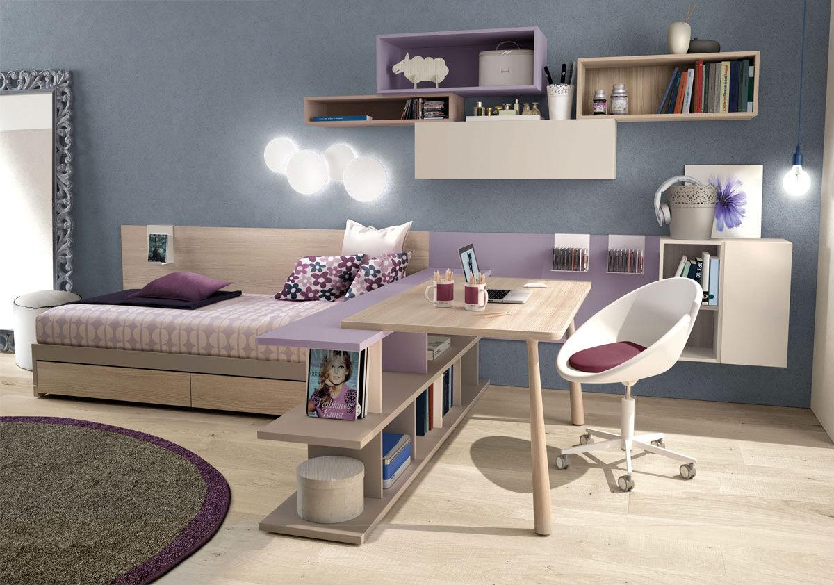 White Childrenu0027s Bedroom Furniture Set / Purple / Girlu0027s / Elm Z566 ZALF