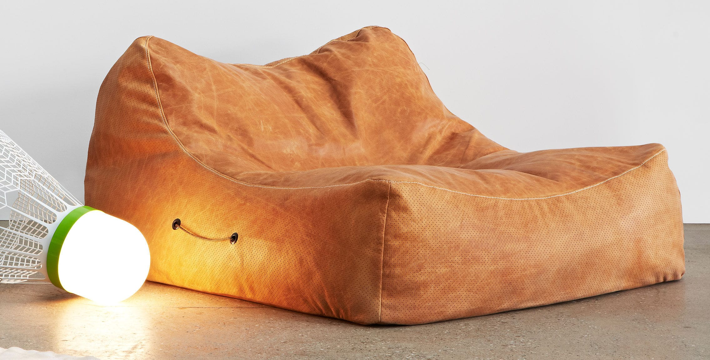 Contemporary Bean Bag Leather THE ROUSEABOUT LifeSpaceJourney