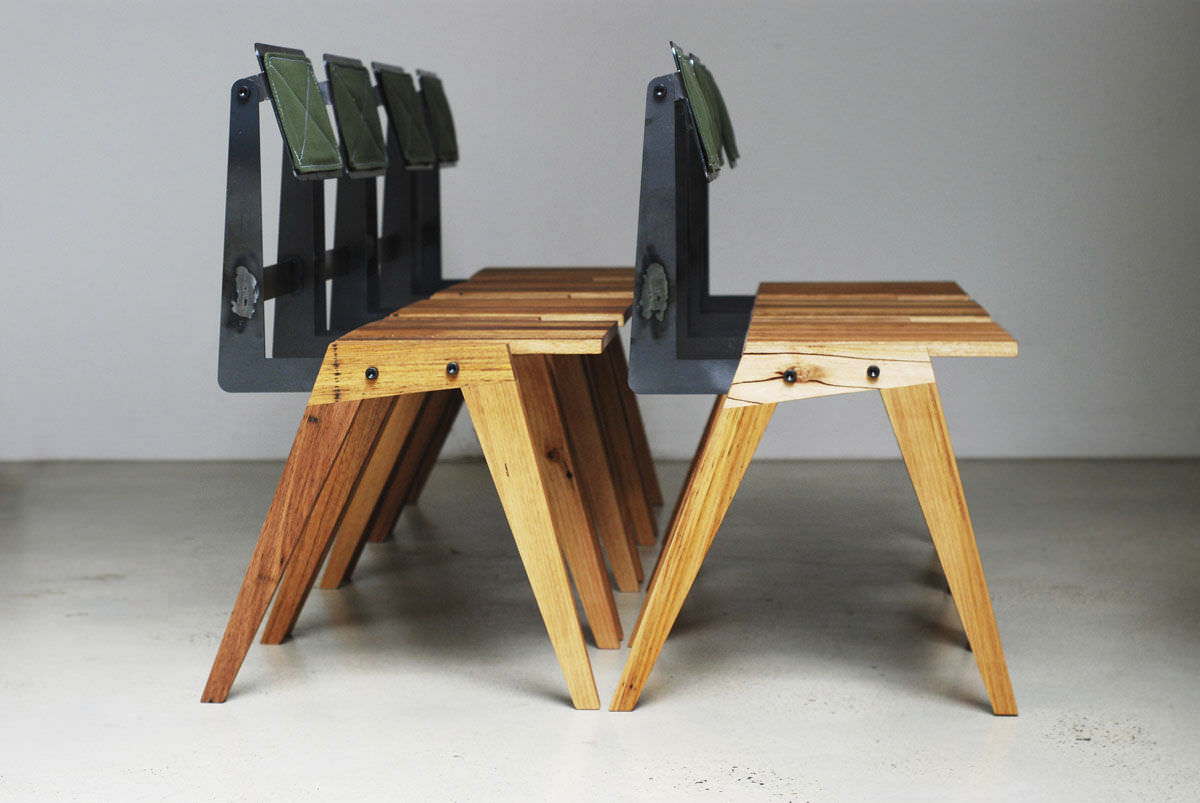 Amazing Bauhaus Design Chair Reclaimed Hardwood Steel Fold With Chaise Bois Mtal