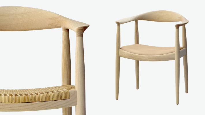 Contemporary Chair / With Armrests / Wooden / By Hans J. Wegner    PP501/PP503