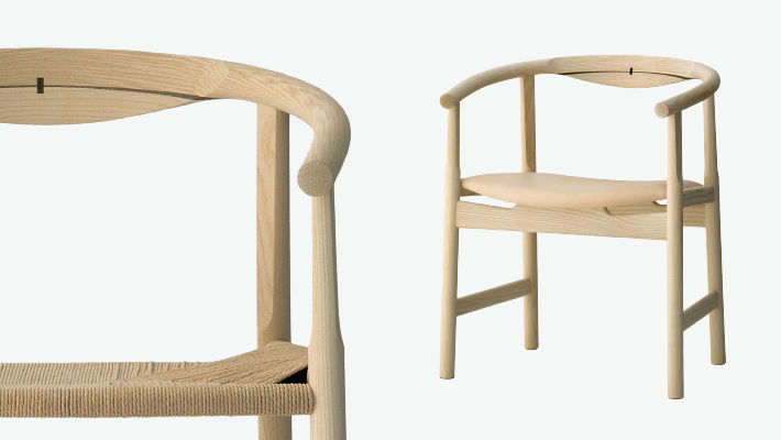 ... Contemporary Chair / With Armrests / Wooden / By Hans J. Wegner ...