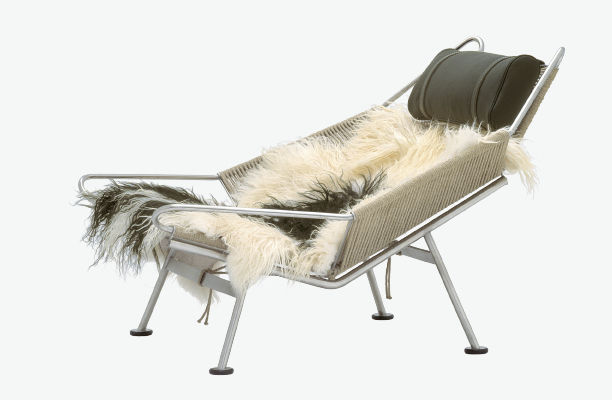 Contemporary Chaise Longue Stainless Steel By Hans J Wegner
