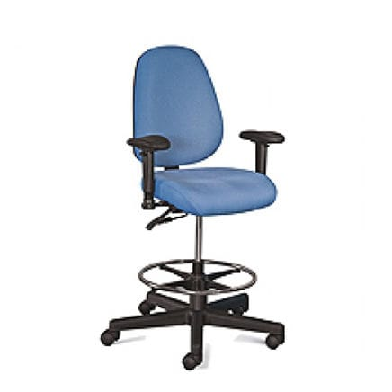 Polypropylene Office Stool On Casters Adjule Height Ergonomic Cue 3
