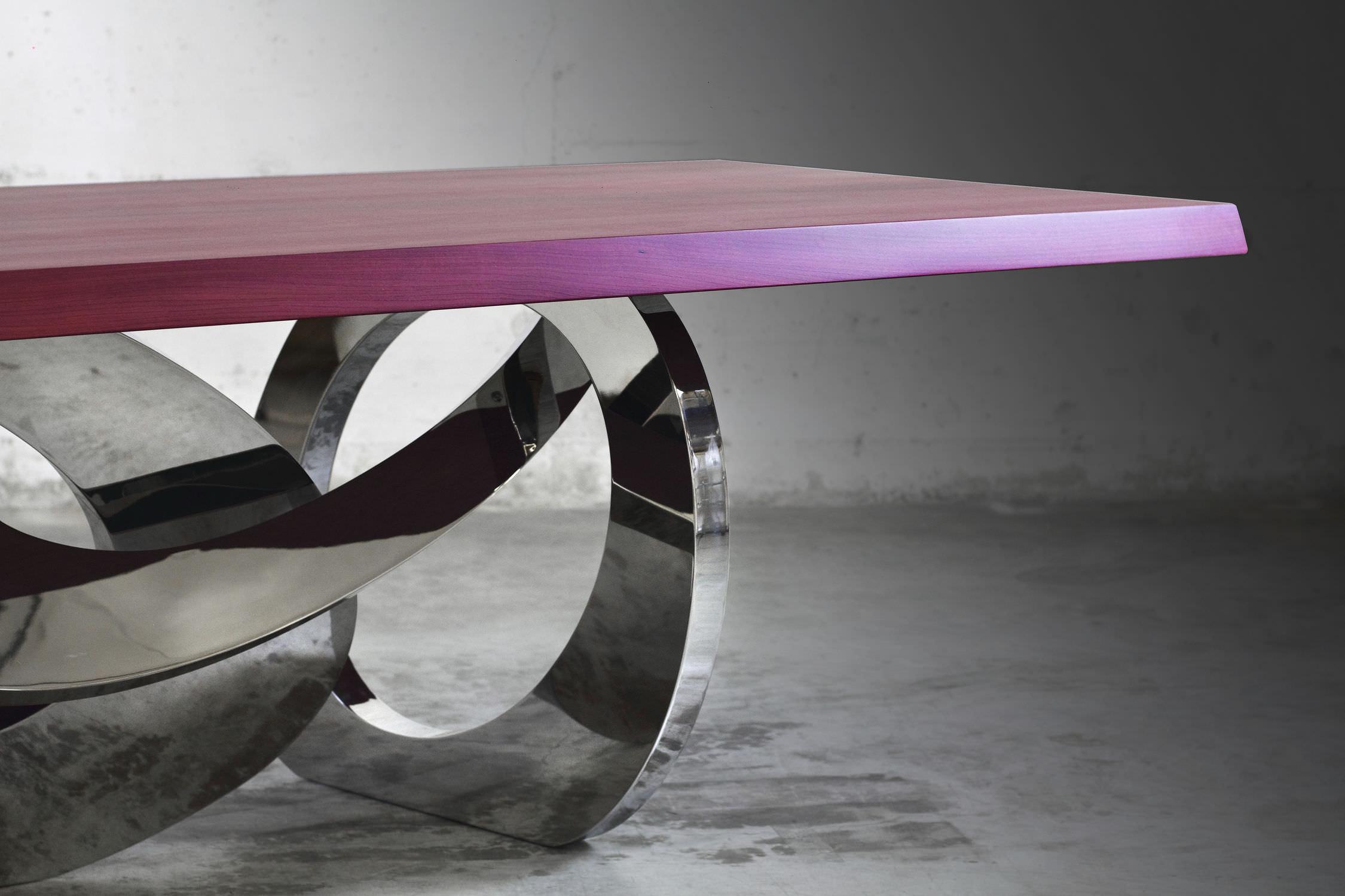 Contemporary dining table   solid wood   purpleheart   rectangular  BANGLES AMARANTO   LIMITED EDITION OF. Contemporary dining table   solid wood   purpleheart   rectangular