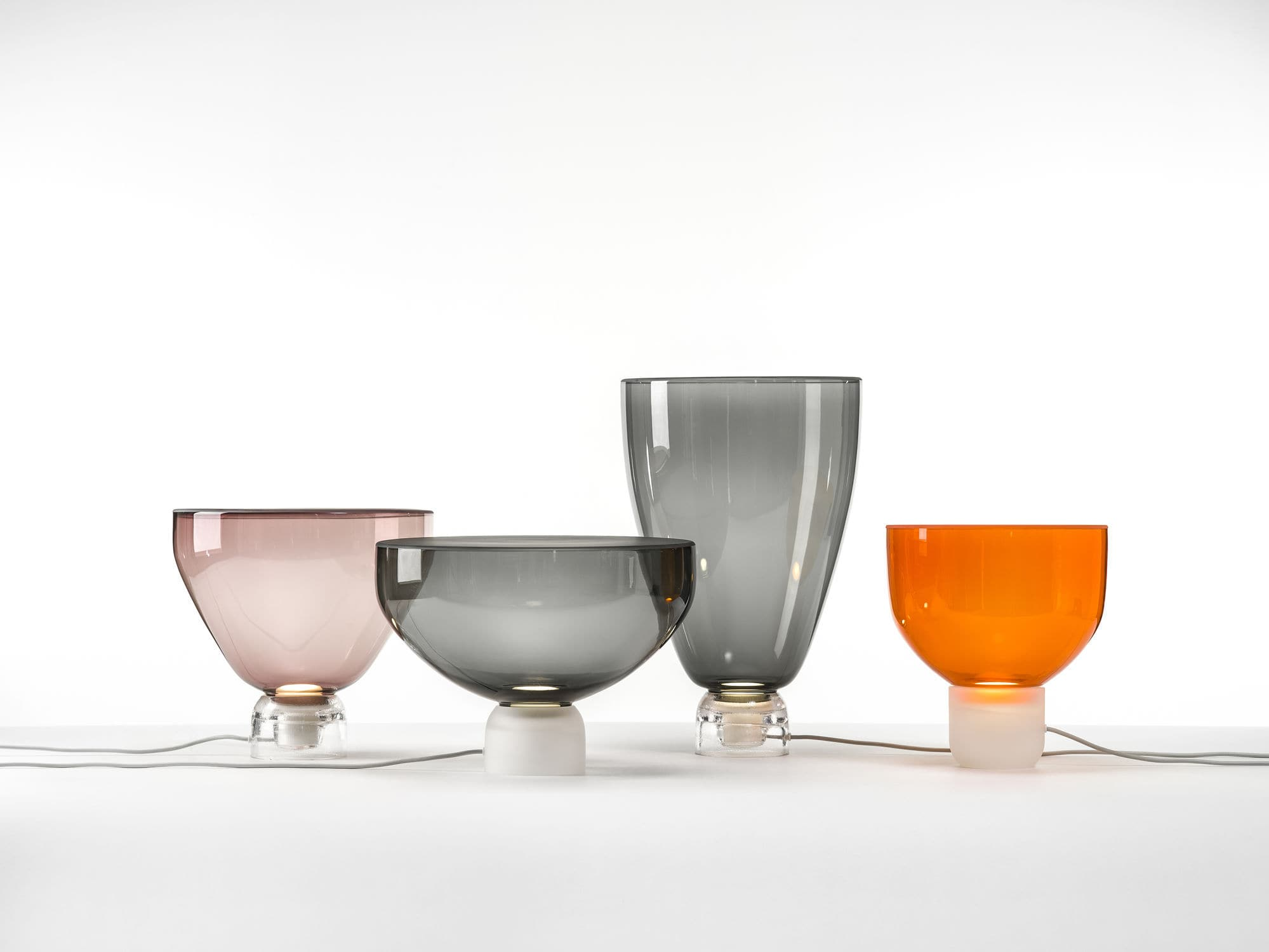 Contemporary orange table lamps - Table Lamp Contemporary Blown Glass Orange Lightline By Lucie Koldova Brokis