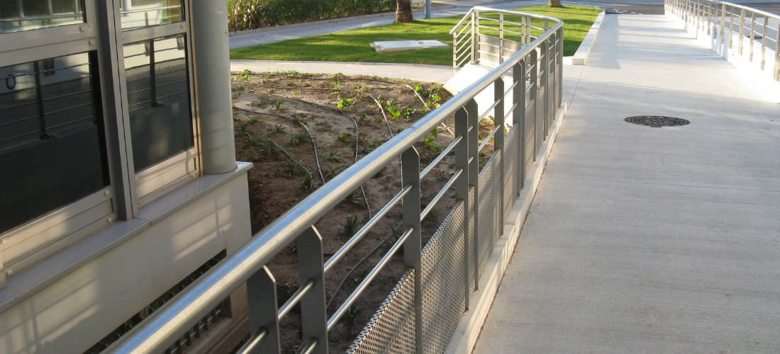 ... Stainless Steel Railing / Perforated Sheet Metal / Outdoor / For Stairs  ...