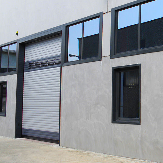 Roll-up industrial door / galvanized steel / automatic / wind-proof - FAST-WALL & Roll-up industrial door / galvanized steel / automatic / wind ...