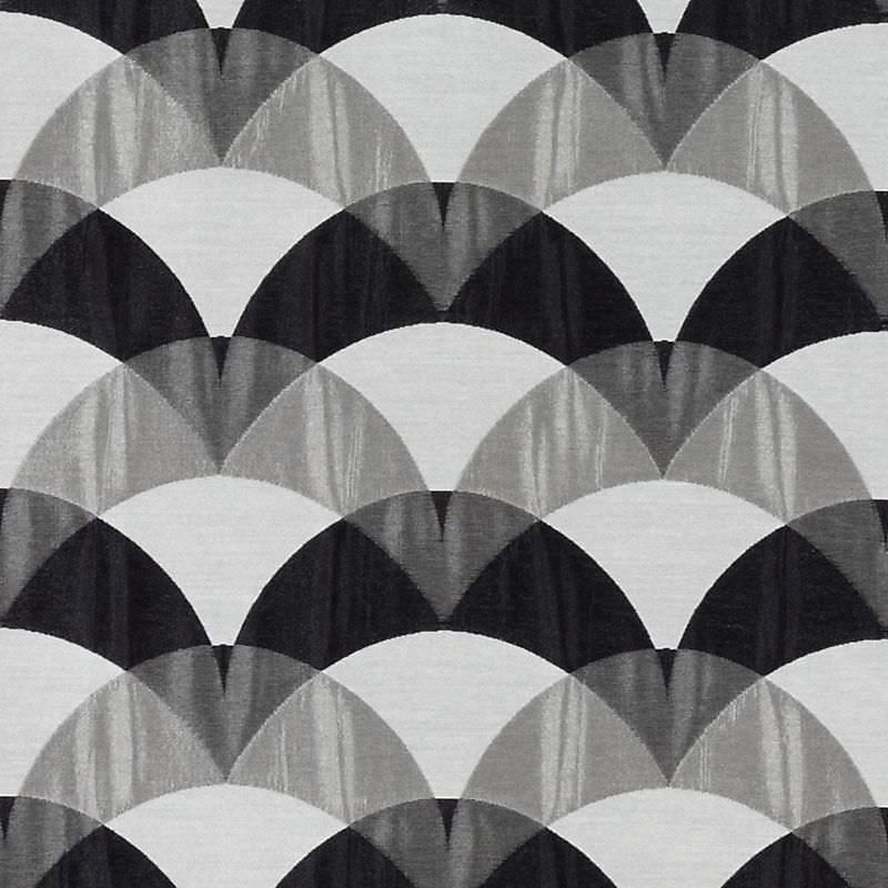 Upholstery fabric / patterned / viscose - Paramount : GREY/BLACK ...