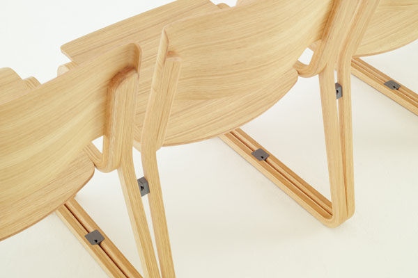 Contemporary Chair / Sled Base / Wooden   THEO By Simon Pengelly