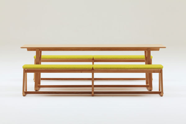 Contemporary bench and table set / garden / residential - THEO by ...