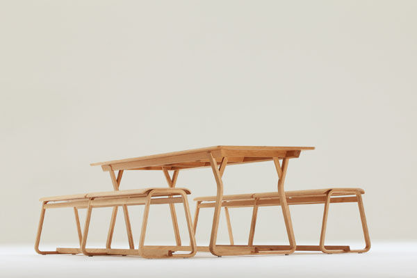 ... Contemporary Bench And Table Set / Garden / Residential THEO By Simon  Pengelly Chorus Furniture