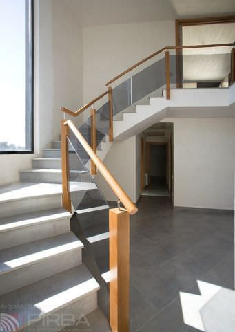 Delicieux ... Wooden Railing / Glass Panel / Indoor / For Stairs ...