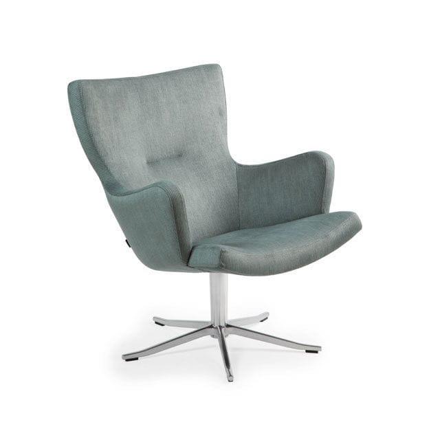 Elegant Contemporary Armchair / Fabric / Leather / Swivel. GYRO By Jan Ekström  Conform