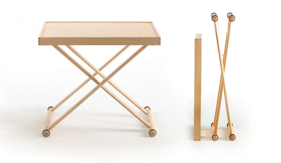 Contemporary Side Table / Wooden / Rectangular / Folding   TRAY By Jørgen  Møller