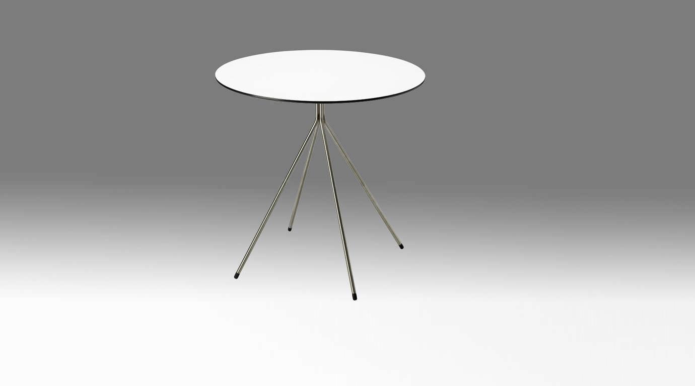 Contemporary Side Table / Stainless Steel / Round / Black SINGLE By Hans  Sandgren Jakobsen Askman ...