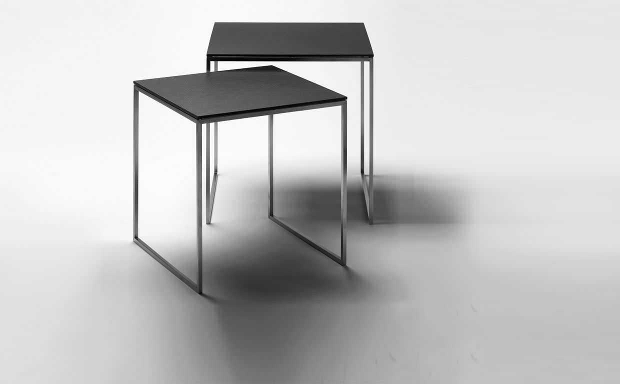 Contemporary Side Table / Wooden / Square / Black