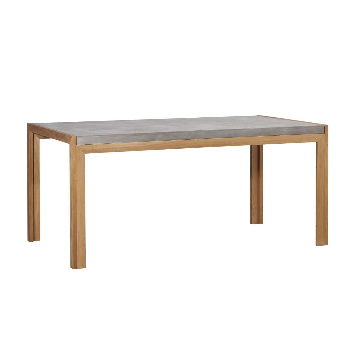 Scandinavian Design Dining Table Teak Concrete Rectangular