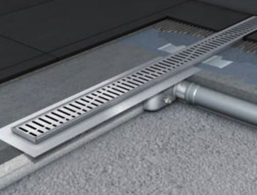... Stainless Steel Linear Shower Drain SHOWER CHANNELS ACO Building  Drainage ...