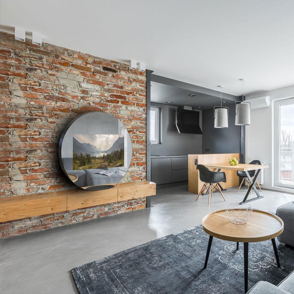 Floor Standing TV Mirror / Living Room / Bedroom / 4k   EVOLUTION