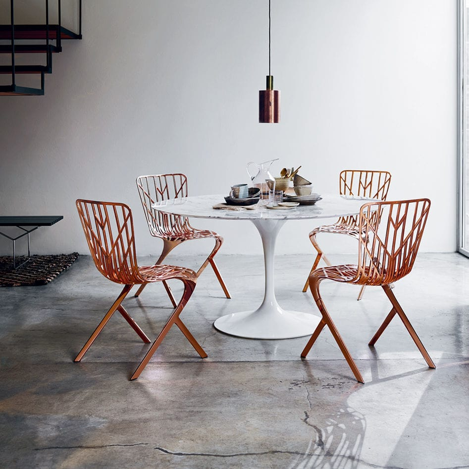 Superieur Original Design Chair / Cast Aluminum / Copper / Black   WASHINGTON  SKELETON™ By David Adjaye