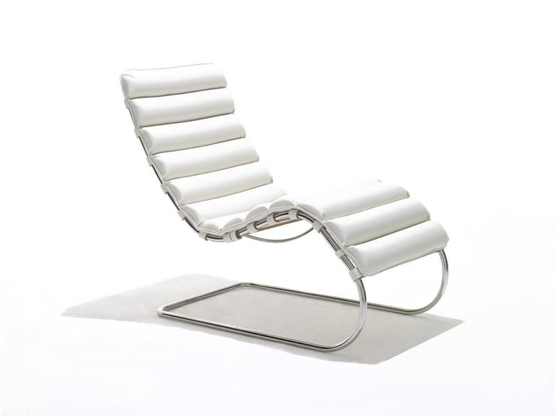 ... Bauhaus Design Chaise Longue / Leather / Steel / By Ludwig Mies Van Der  Rohe ...