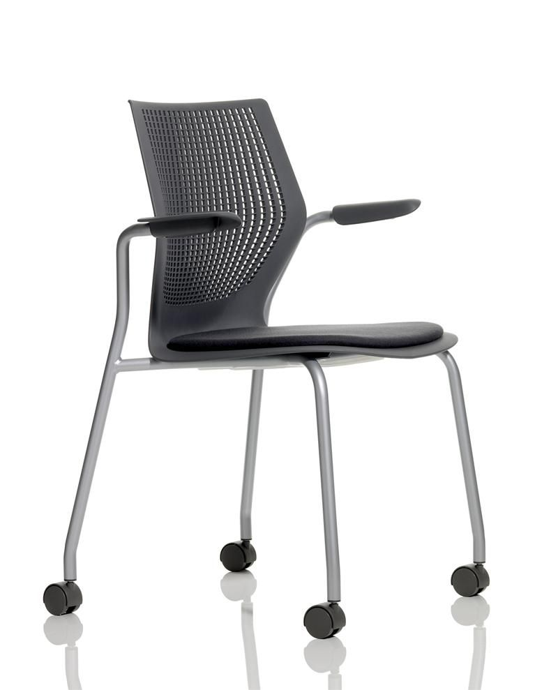 contemporary office chair / thermoplastic / stacking / on casters