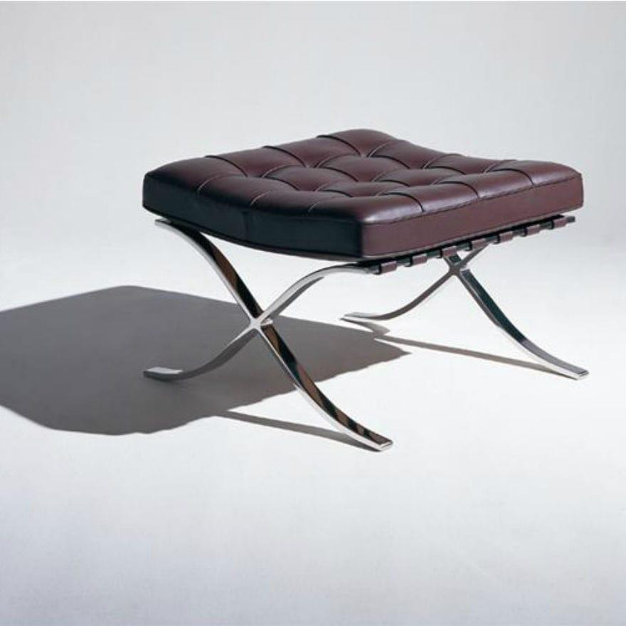 ludwig mies van der rohe barcelona. Contemporary Footrest / Leather Steel By Ludwig Mies Van Der Rohe - BARCELONA® Barcelona R