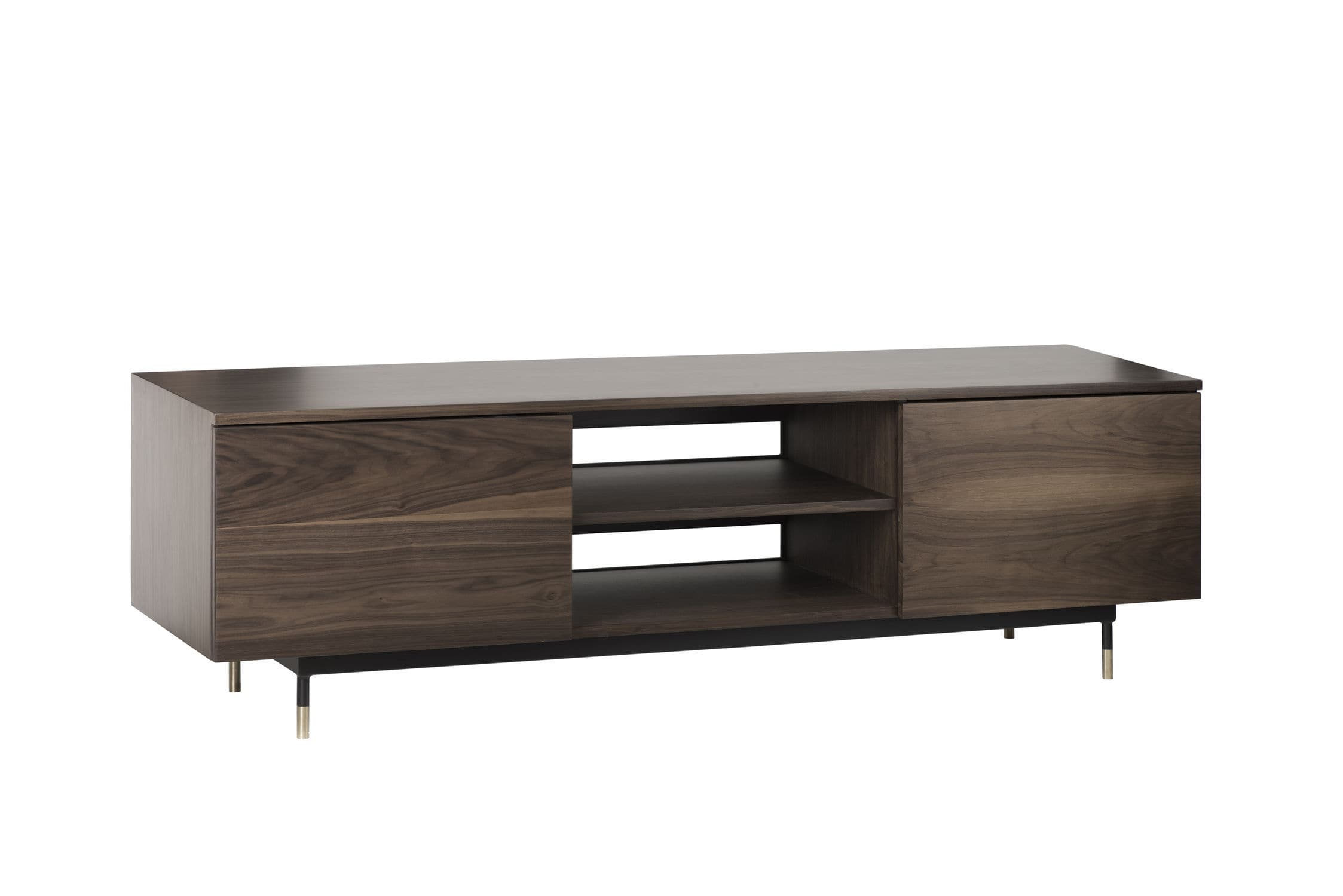 Contemporary TV Cabinet / Lowboard / Walnut / Marble ...