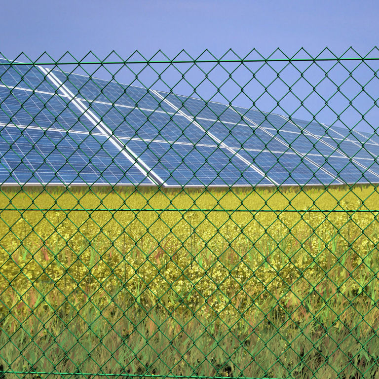Garden Fence / For Construction Sites / Wire Mesh / Galvanized Steel IDEAL  Siderurgica Ferro Bulloni ...