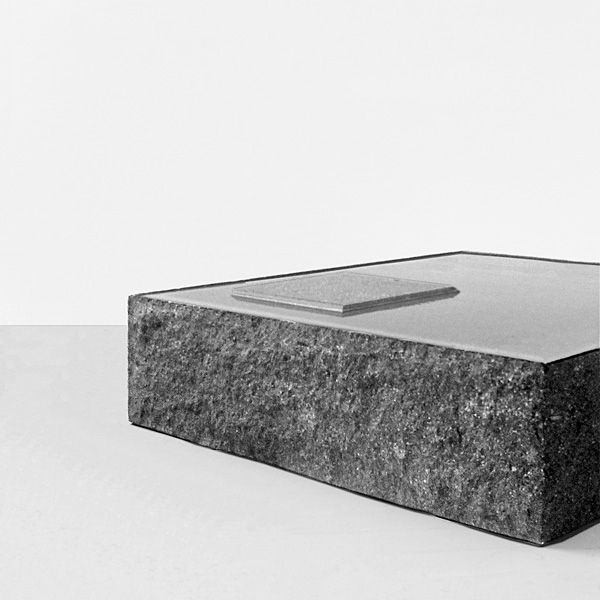 ... Contemporary Coffee Table / Stone / Square