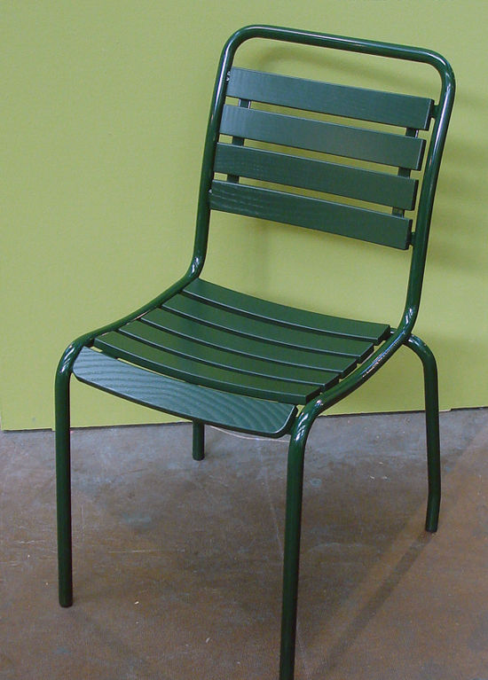 Contemporary Garden Chair With Armrests Stackable Ash