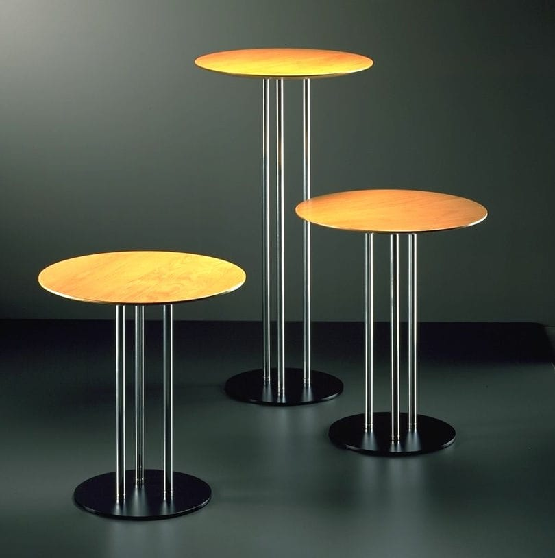 Contemporary High Bar Table Wooden Round For Bars