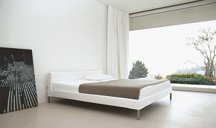 ... Double Bed / Contemporary / Upholstered / With Headboard