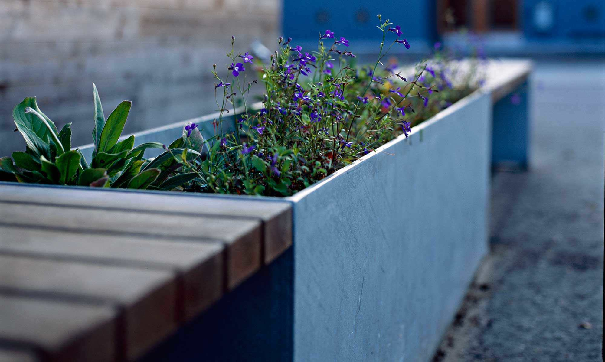 ... Galvanized steel planter / rectangular / contemporary / for public  areas VROOM by Espen Voll, ...