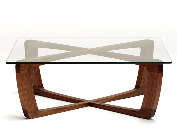 contemporary coffee table / glass / square - kustom. - bark