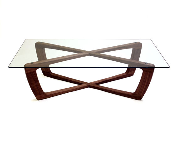 Contemporary Coffee Table / Glass / Rectangular   KUSTOM