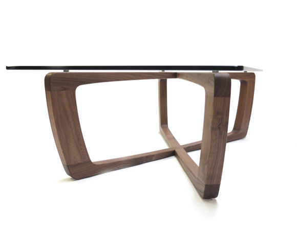 contemporary coffee table / glass / rectangular - kustom - bark